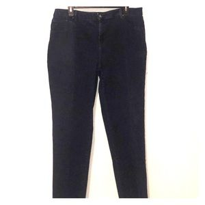 Gloria Vanderbilt dark blue jeans